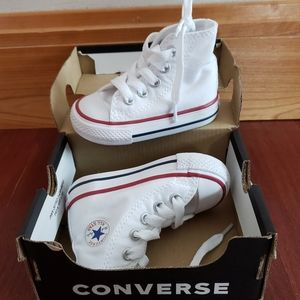 White high top converse shoes